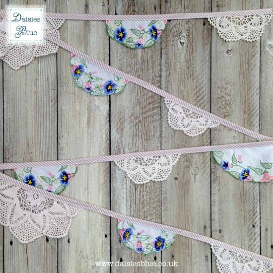 Vintage Crochet Doily Bunting