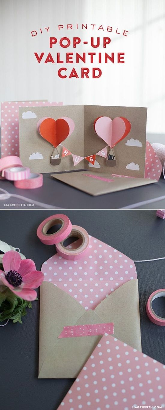valentine diy craft card